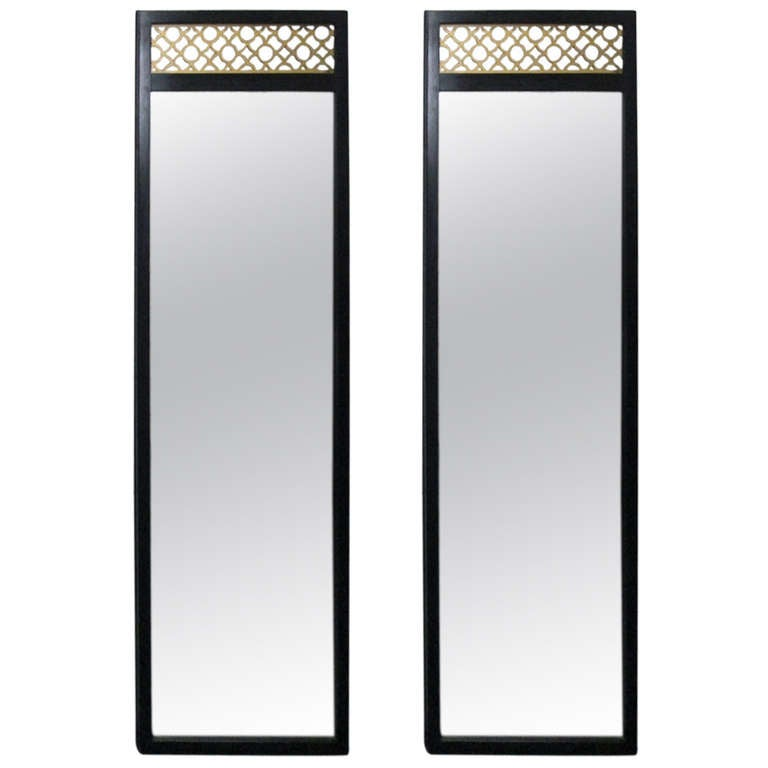 Pair of Chinoiserie Mirrors in the Manner of James Mont For Sale
