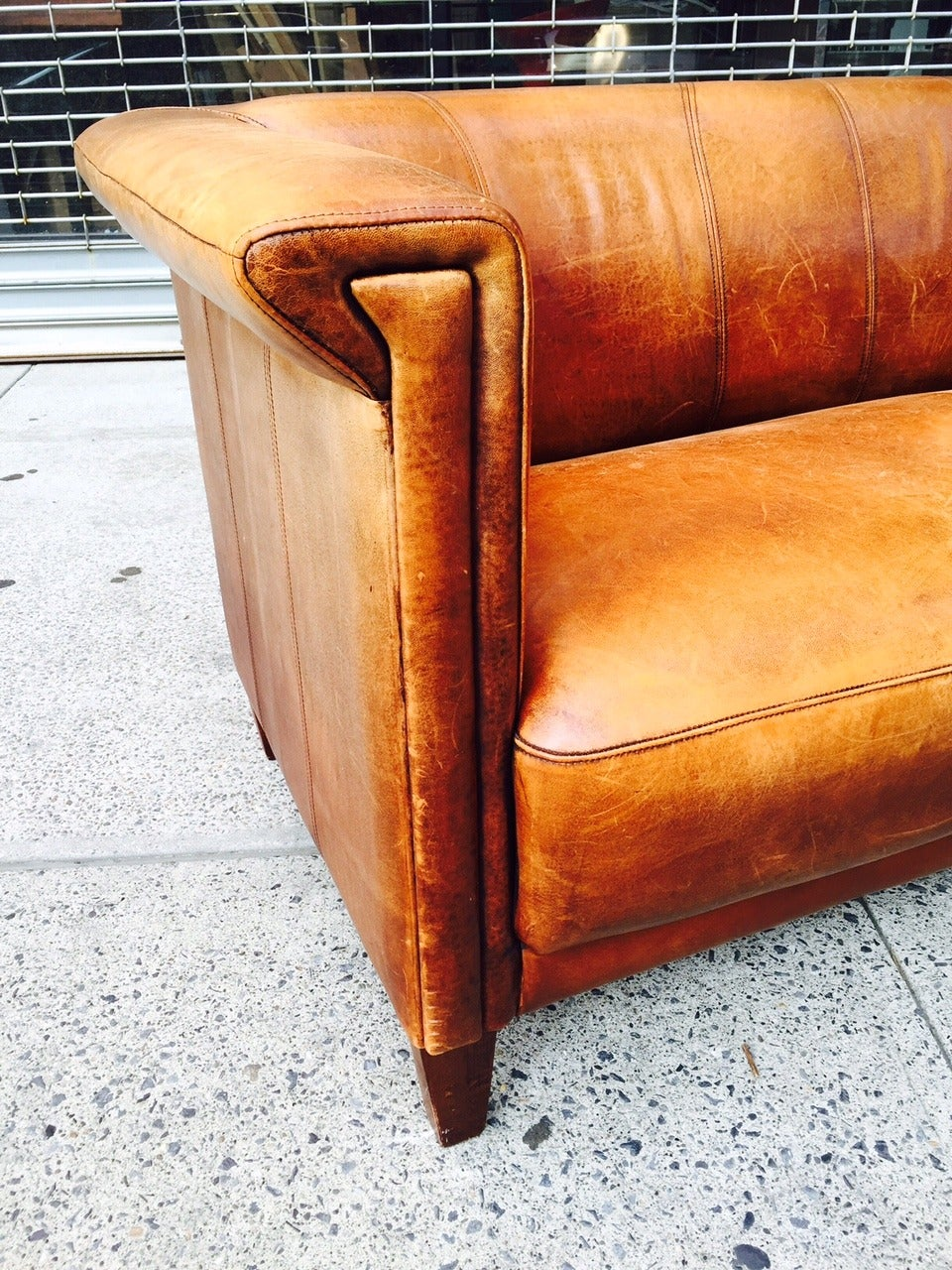 image of distressed leather sofa cleaner