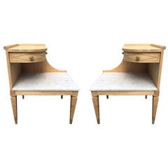 Pair of Marble-Top Side Tables by Grosfeld House