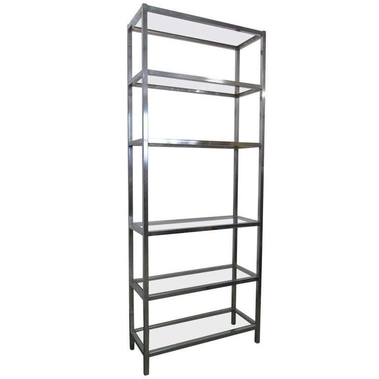Chrome etagere w glass shelves at 1stdibs - Etagere 6 cases ...
