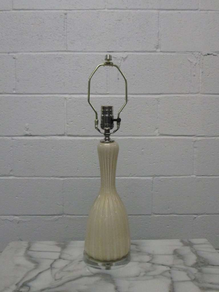 Pair of Murano Lamps For Sale 2