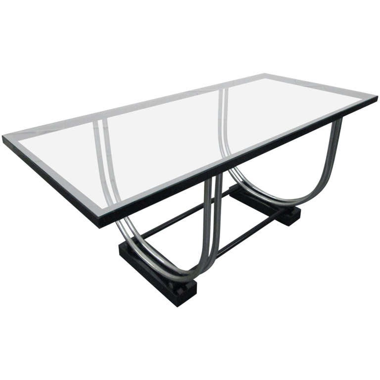 French Art Deco Streamline Dining Table