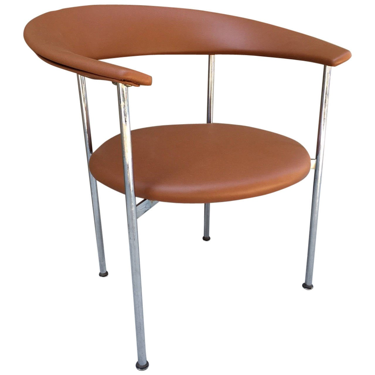 Mid-Century Modern Chrome Side Chair For Sale