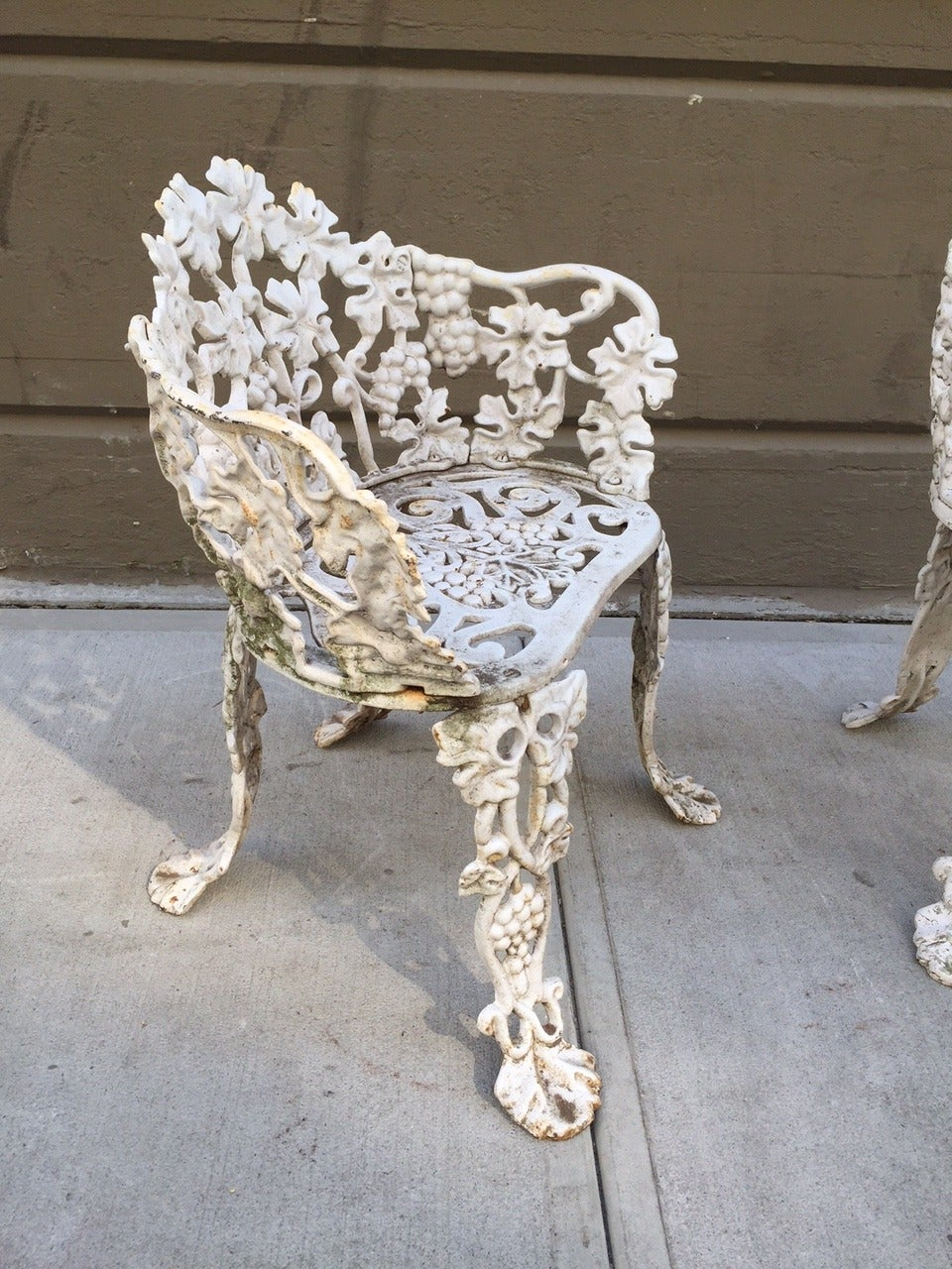 Pair of vintage cast iron garden chairs for sale at 1stdibs Cast iron garden furniture