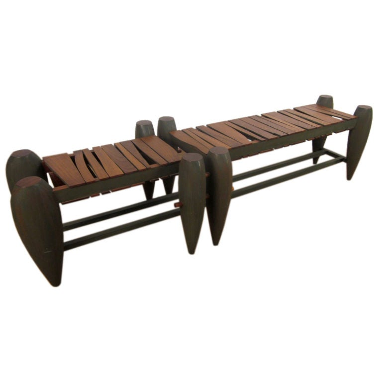 Custom-Made Modern Slat Bench