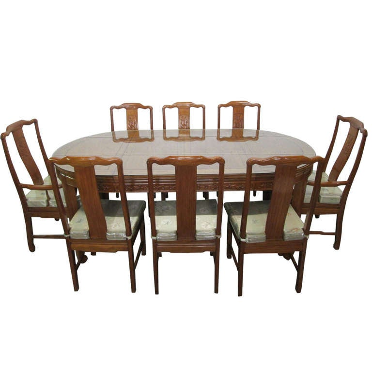 Imported Mahogany Chinese Table and 8 Chair Dining Set at  : 859623l from 1stdibs.com size 768 x 768 jpeg 43kB