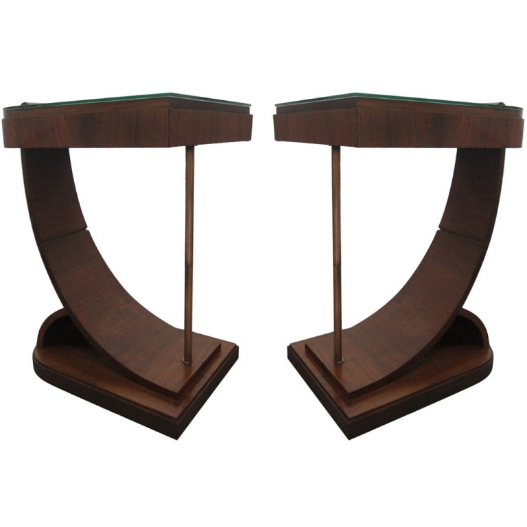Beautiful Pair Art Deco End Tables 1