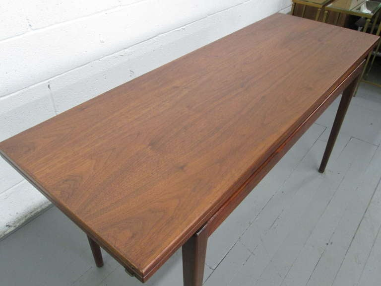 Jens risom convertible dining table or console at 1stdibs - Console table converts to dining table ...
