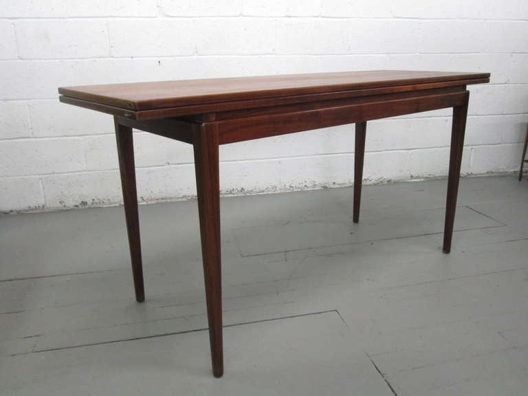 jens risom convertible dining table or console at 1stdibs