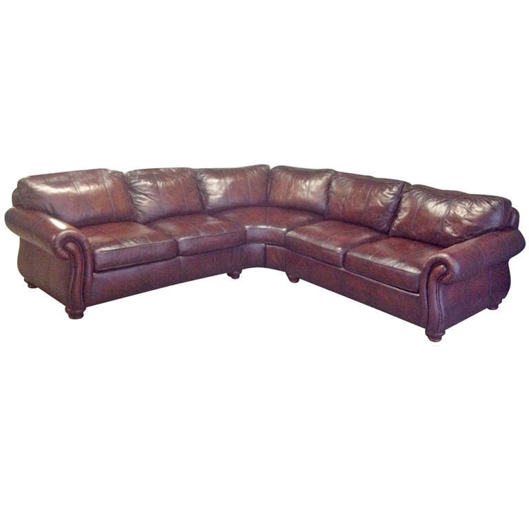 Leather sectional sofa at 1stdibs for Bernhardt leather sectional sofa prices