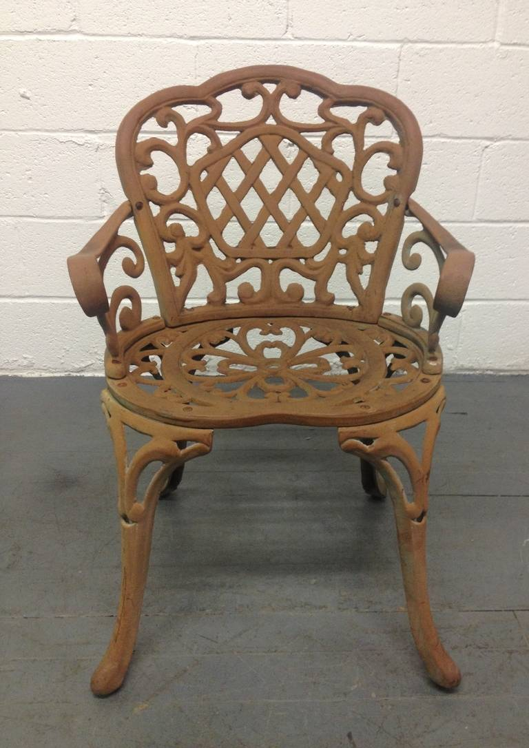 Four Cast Iron Garden Chairs For Sale At 1stdibs