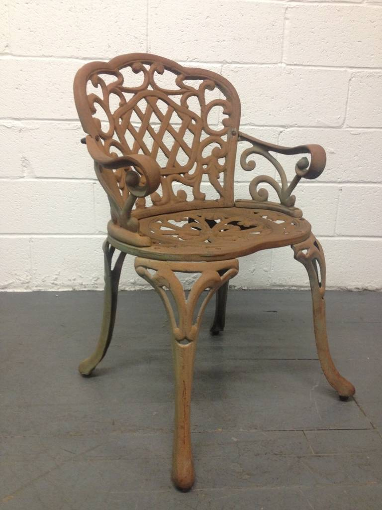 Four cast iron garden chairs for sale at 1stdibs Cast iron garden furniture