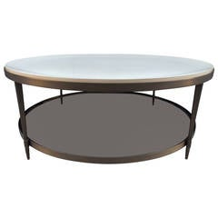 Octagonal Baker Brass Tray And Glass Coffee Table At 1stdibs
