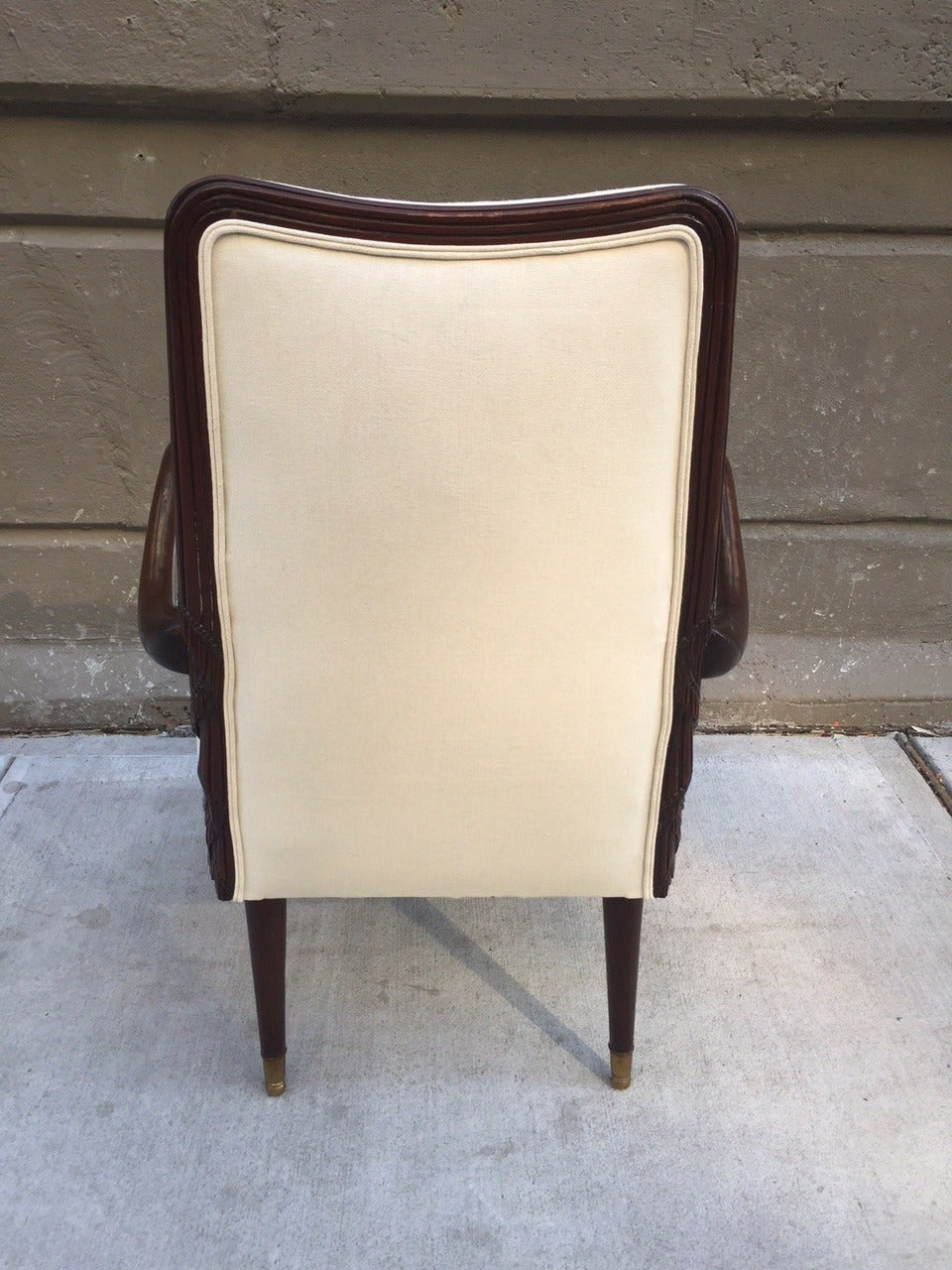 Pair of French Art Deco Side Chairs In Good Condition For Sale In New York, NY