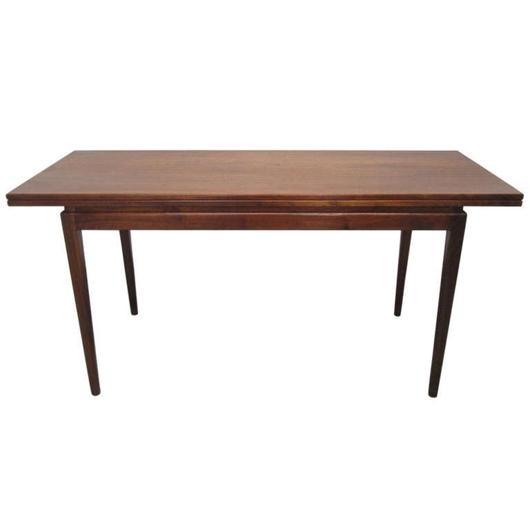 jens risom convertible dining table or console for sale at