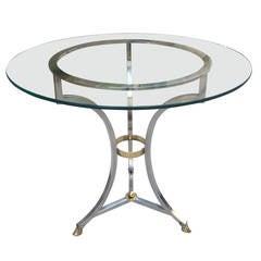 Chrome and Brass Table in the Style of Maison Jansen