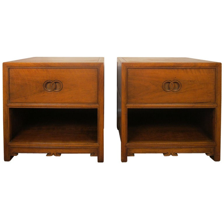 Pair Of Nightstands By Michael Taylor For Baker At 1stdibs