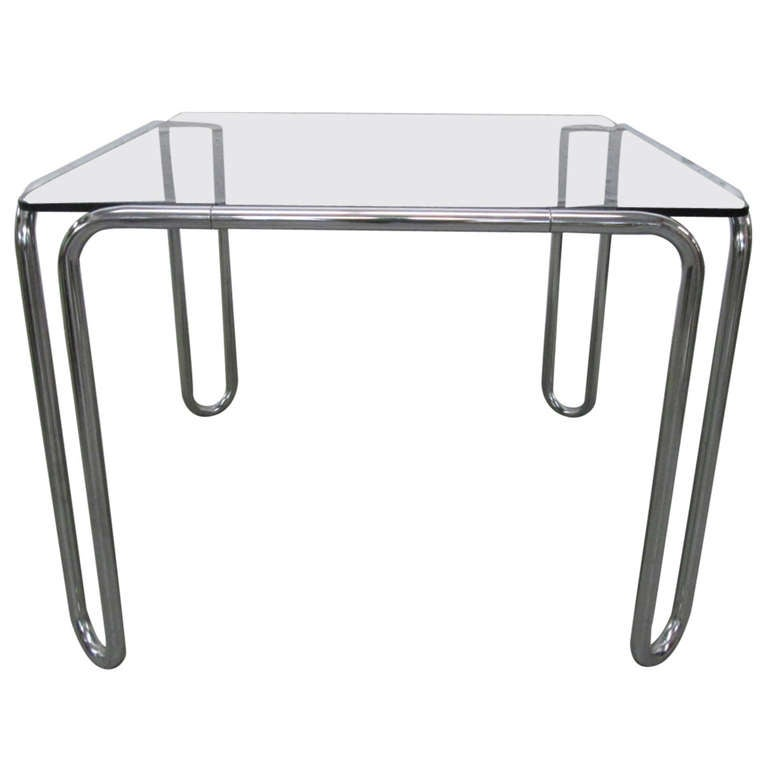 marcel breuer tubular steel table at 1stdibs. Black Bedroom Furniture Sets. Home Design Ideas