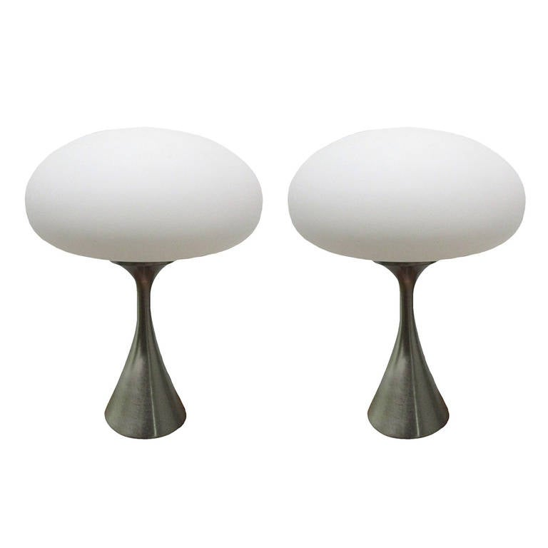 Pair Laurel Mushroom Lamps By Bill Curry At 1stdibs