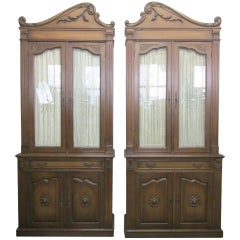 Pair of Monumental Hollywood Regency Cabinets