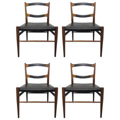 Set of Four Heritage-Henredon Leather Dining Chairs
