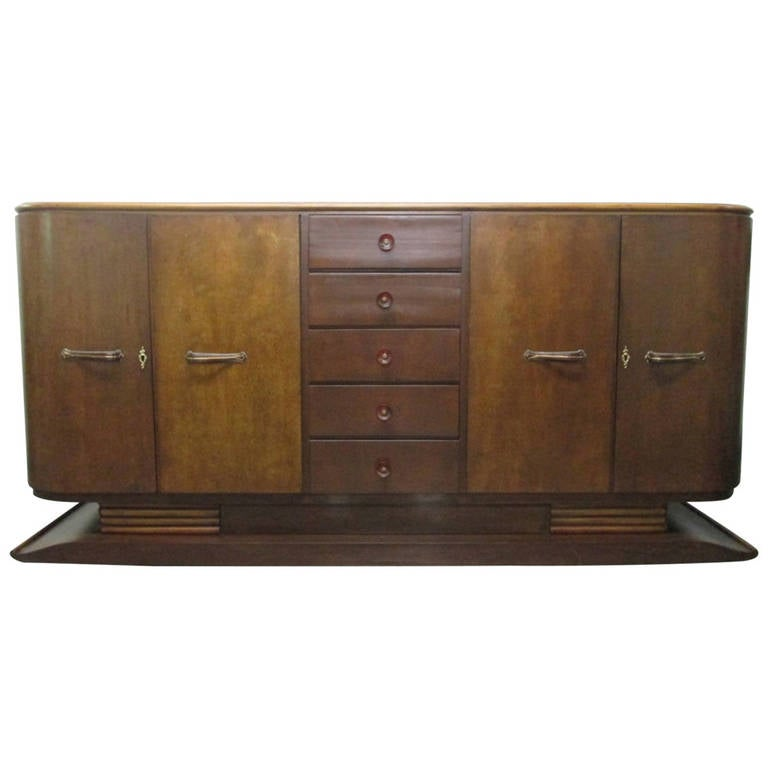 french art deco sideboard or buffet for sale at 1stdibs. Black Bedroom Furniture Sets. Home Design Ideas
