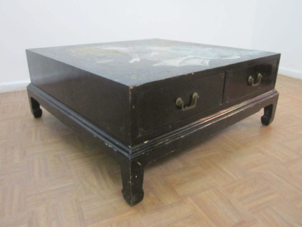 Chinoiserie Lacquered Asian Coffee Table At 1stdibs
