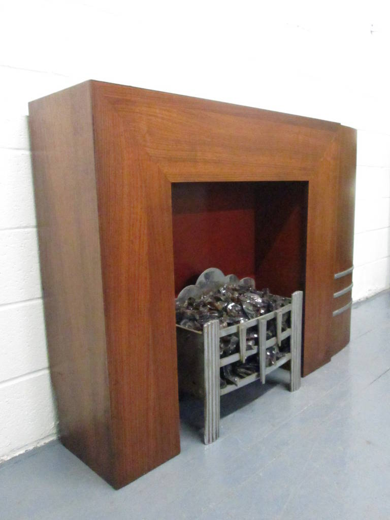 spectacular streamline art deco fireplace mantel for sale at 1stdibs