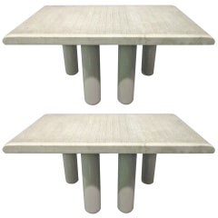 Pair of Italian Marble End Tables