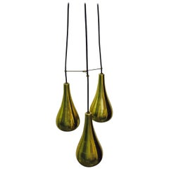 Three-Pendant Light Fixture in the Manner of Paavo Tynell