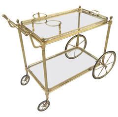 Brass Italian Bar Cart