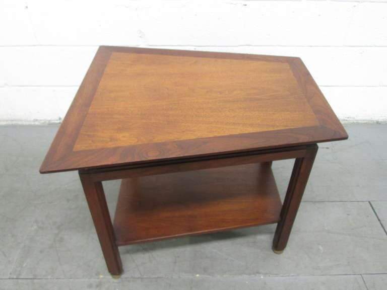 Dunbar trapezoid side table at 1stdibs for Trapezoid table