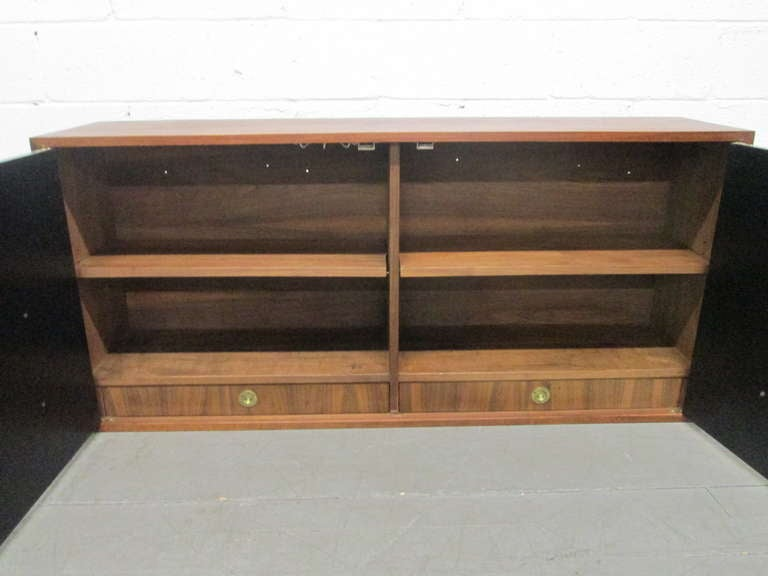 Mid-Century Modern A Wall Mounted Console / Bar