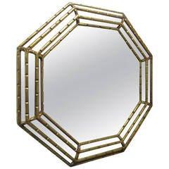 Octagonal Gold Gilt Mirror