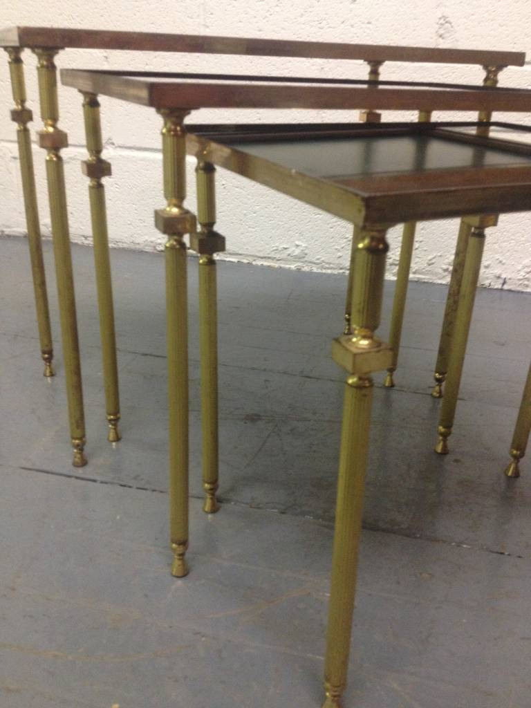 French, Nesting Tables by Maison Baguès In Good Condition For Sale In New York, NY