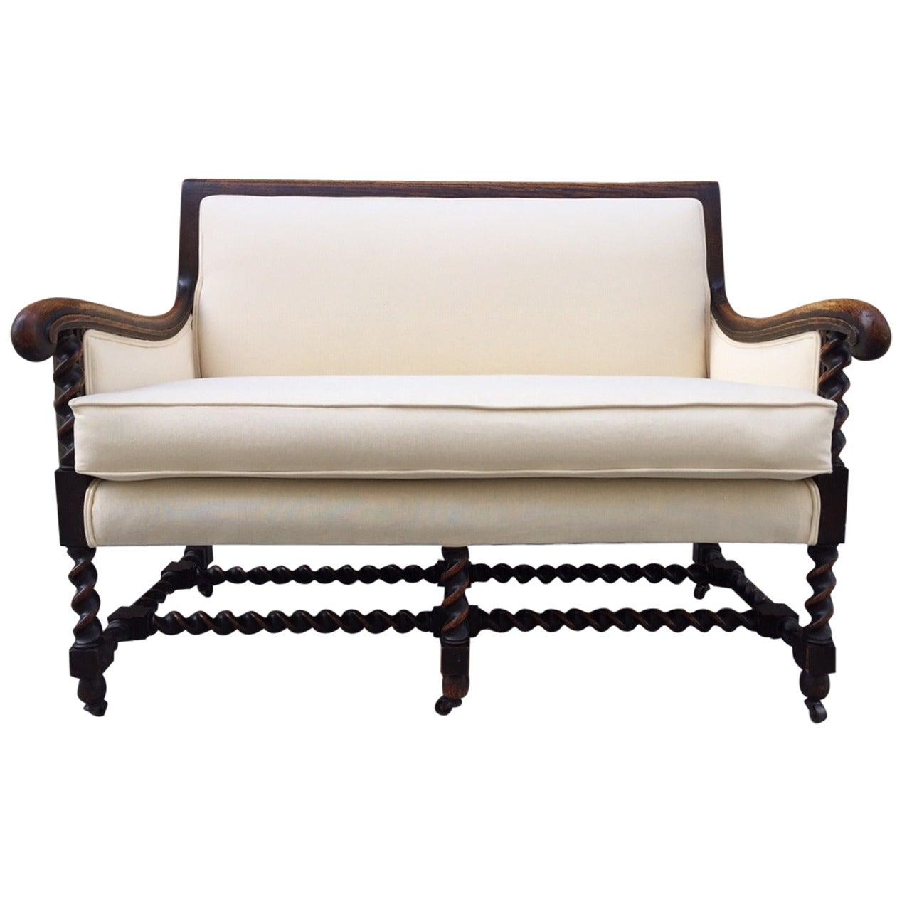 Antique Oak Barley Twist Sofa For Sale At 1stdibs