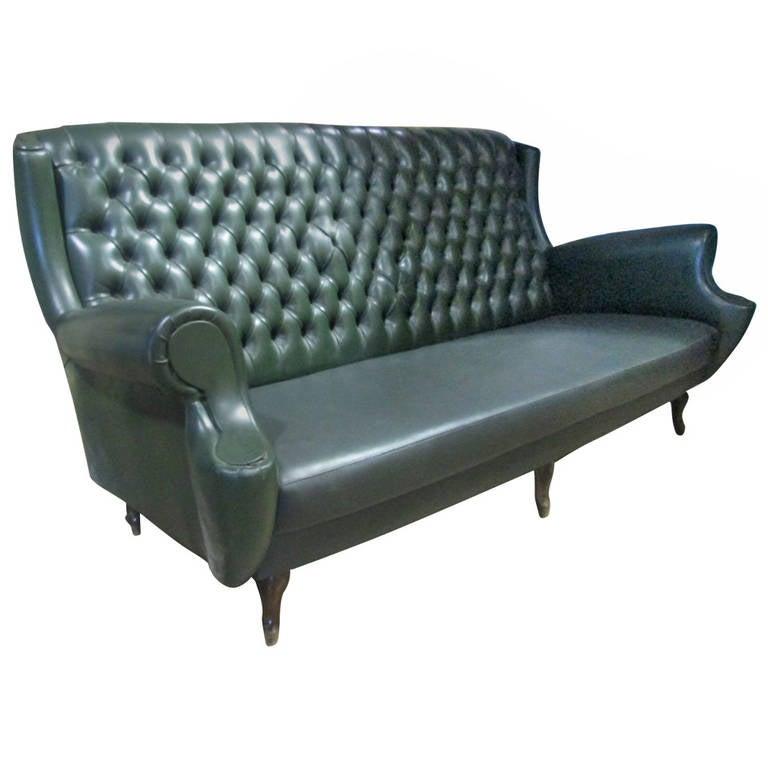 Italian Tufted Back Sofa 1