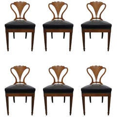 Set of 6 Biedermeier Style Chairs