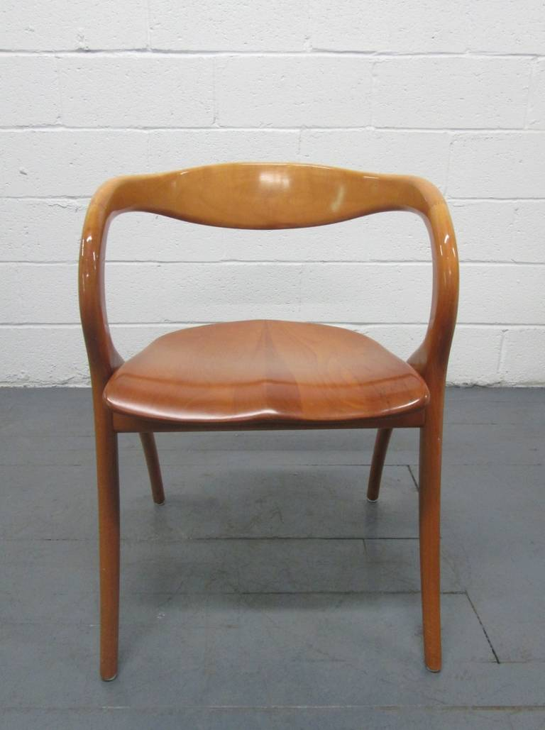 Pair Of Italian Sculptural Chairs By A Sibau At 1stdibs