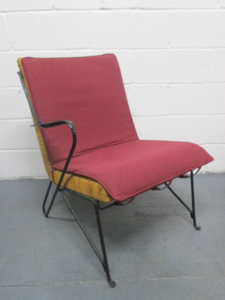 Van Keppel Green Chair In Wrought Iron And Rattan Loveseat For Sale At 1stdibs