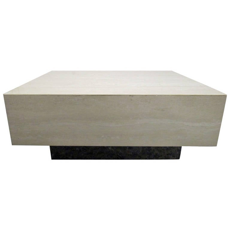 Italian Travertine Coffee Table For Sale At 1stdibs