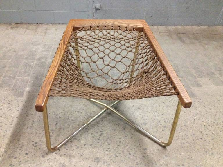 Mid Century Modern Rope Chair At 1stdibs