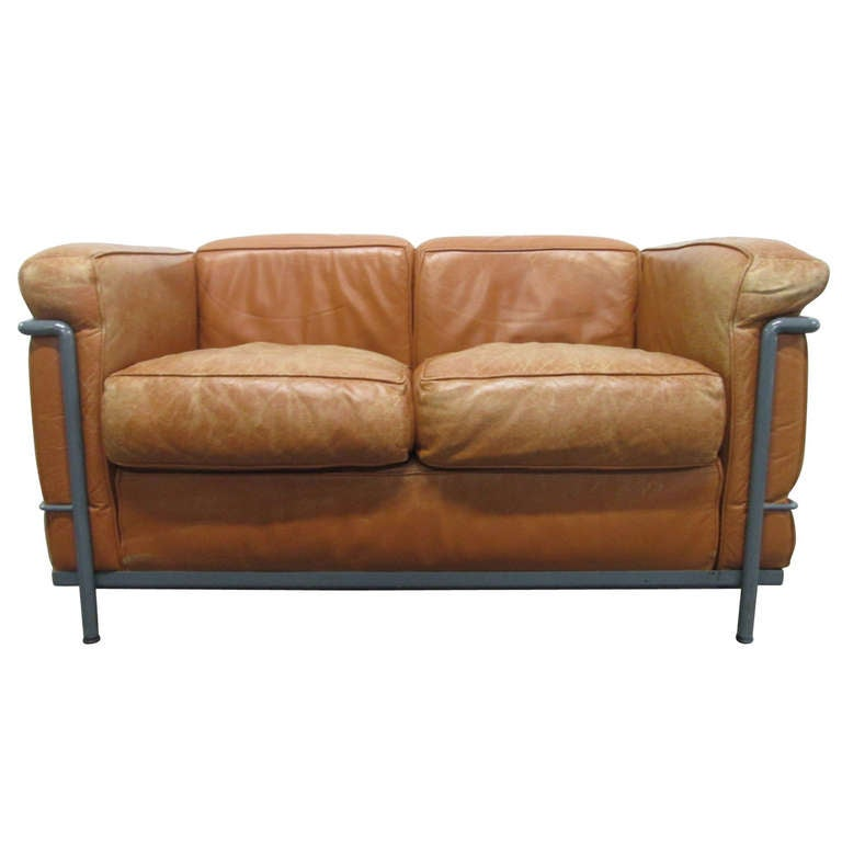 lc2 le corbusier sofa for cassina at 1stdibs. Black Bedroom Furniture Sets. Home Design Ideas