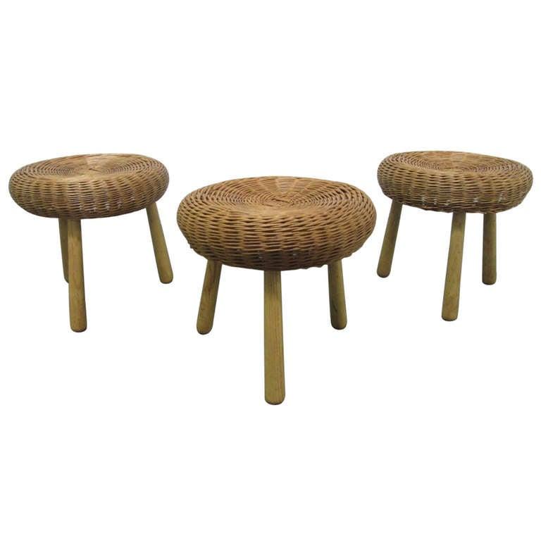 Set of Three Tony Paul Rattan Stools For Sale at 1stdibs : 962780l from www.1stdibs.com size 768 x 768 jpeg 30kB