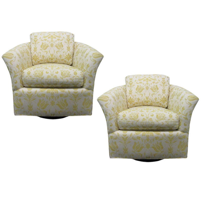 Upholstered swivel chairs for Small club chairs upholstered