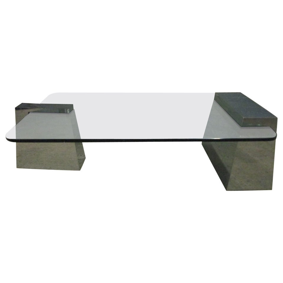 Chrome Geometric Coffee Table For Sale At 1stdibs