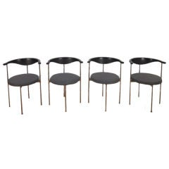 Set of Four Frederik Sieck for Fritz Hansen Chairs