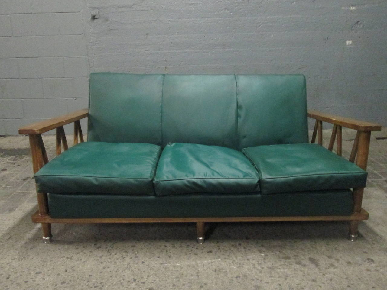 French Cerused Oak Loveseat in the Style of Jean Michel Frank In Good Condition For Sale In New York, NY