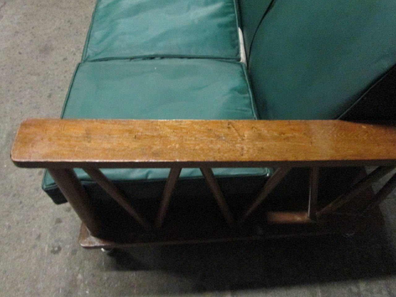 French Cerused Oak Loveseat in the Style of Jean Michel Frank For Sale 2