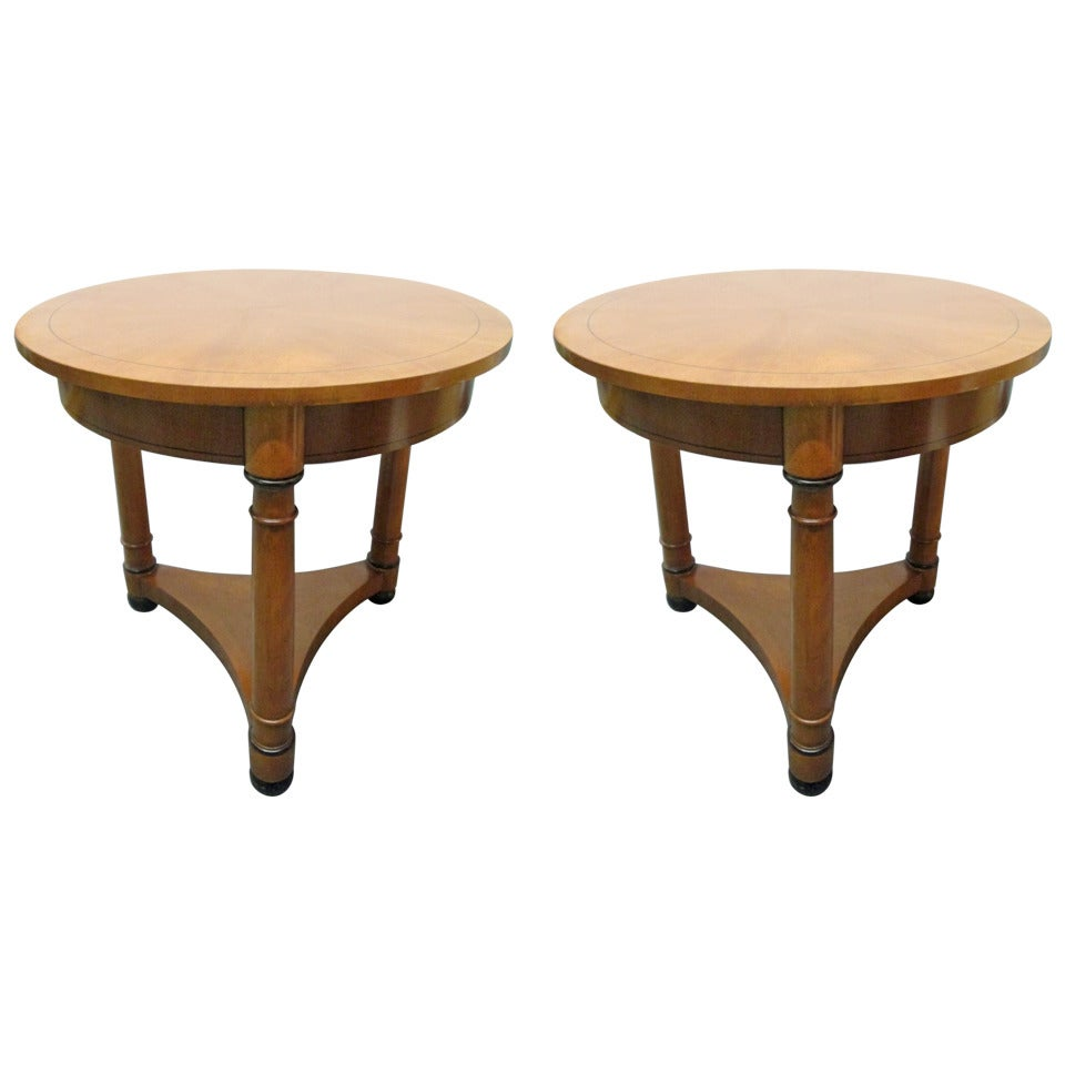 Pair of Gueridon Tables by Baker